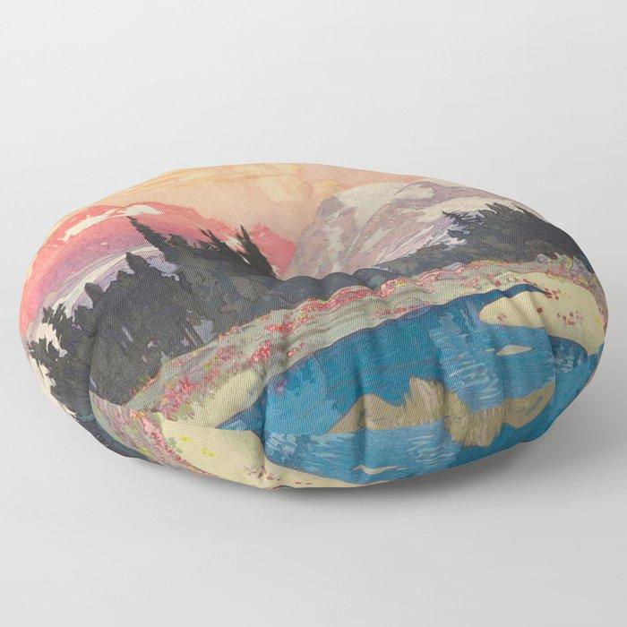 Storms over Keiisino Floor Pillow