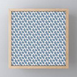 Evil Eye Teardrop Framed Mini Art Print