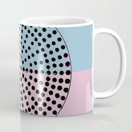 Abstract Sunrise Of Black Hole Sun. Mistyrose Pink And Lightblue Coffee Mug