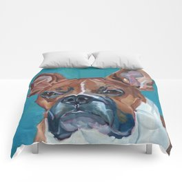 Walker the Boxer Dog Portrait Comforters
