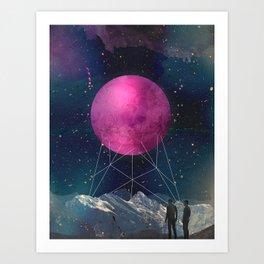 Intergalactic bridges Art Print