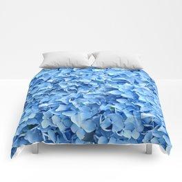 BABY BLUE HYDRANGEAS FLORAL ART Comforters