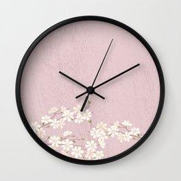 Pink Blossom Wall Clock