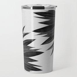 Agave Cactus Black & White Travel Mug