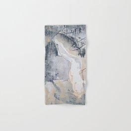 As Restless as the Sea: a minimal abstract painting by Alyssa Hamilton Art Hand & Bath Towel