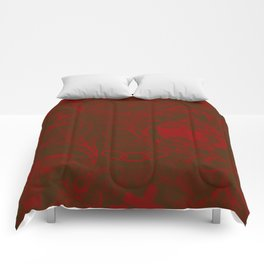 Burgundy IOOF Woven Tapestry Print Comforters