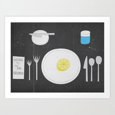 Everything Lemon - Analog Zine Art Print