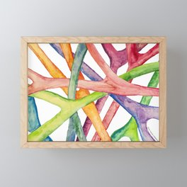 Entertwined roots Framed Mini Art Print
