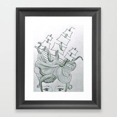 Sea Creature Framed Art Print