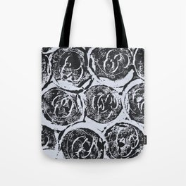 Rosettes Abstracted Black and White Tote Bag