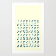 LCD teal Art Print