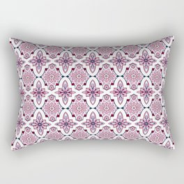 Lilac and burgundy flower Moroccan Tiles Rectangular Pillow