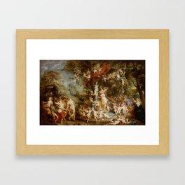 The Feast of Venus by Peter Paul Rubens Framed Art Print