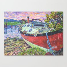 Claude's Boat Canvas Print
