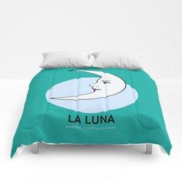 La Luna Mexican Loteria Card Comforters