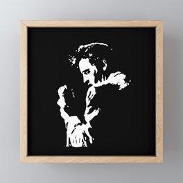 Elvis stencil Framed Mini Art Print