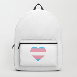 Transgender Flag Heart Trans Pride LGBTQ Equality Pun Gift Cool Humor Design Backpack