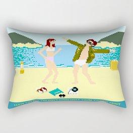 I Love You But Rectangular Pillow