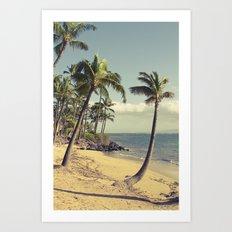 Maui Lu Beach Kihei Maui Hawaii Art Print