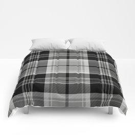 Black & White Tartan (var. 2) Comforters