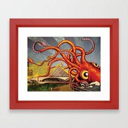 What's Kracken MKE Framed Art Print