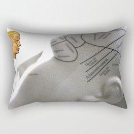 Phrenology | A Picture of Good Health circa 1881 Rectangular Pillow