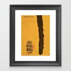 Kill Bill, Tarantino Movie Poster, Alternative, Minimal, Fine Art, Uma Thurman Framed Art Print