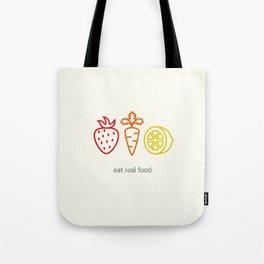 Eat Real Food. (light) Tote Bag