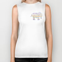 boho Biker Tanks featuring boho elephant by maple