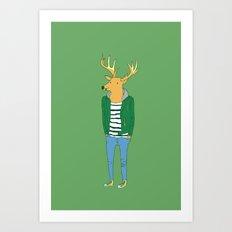Mr. deer Art Print