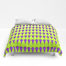 Purple and Neon Scales Comforters