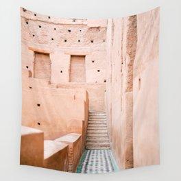 Colors of Marrakech Morocco - El badi palace photo print | Pastel travel photography art Wall Tapestry