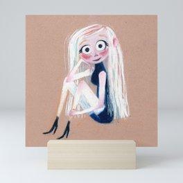 Pastel Girl Mini Art Print