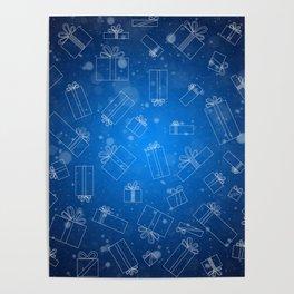 Christmas Presents Design Poster