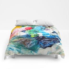 Rainbow Earth Paint Moon Love Comforters