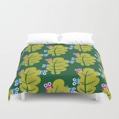 Bugs Eat Green Leaf Duvet Cover