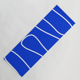 Blue Abstract Wave Yoga Mat