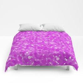 Dazzling Violet Polka Dot Bubbles Comforters