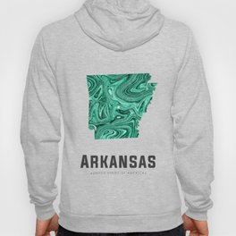 Arkansas - State Map Art - Abstract Map - Green Hoody