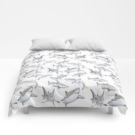 Shark-Filled Waters Comforters