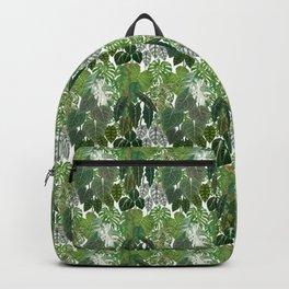Urban home jungle tropical plants illustration & pattern Backpack