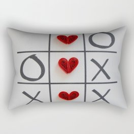 Tic Tac Toe Love Rectangular Pillow