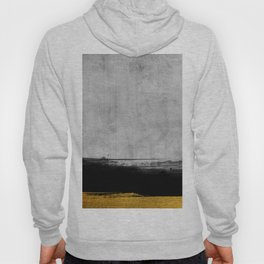 Black and Gold grunge stripes on modern grey concrete abstract backround I - Stripe - Striped Hoody