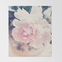 Beautiful Peony Flower Art Throw Blanket