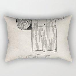 Toilet Paper Patent - Bathroom Art - Antique Rectangular Pillow