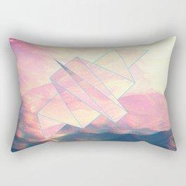 digitally flying bird through the hills Rectangular Pillow