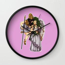 Athena and Medusa Wall Clock