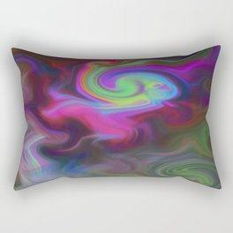 Turbulence - Midnight flower Rectangular Pillow