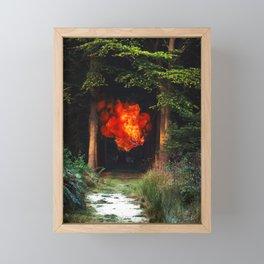 fire fish Framed Mini Art Print