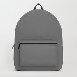 Grey Solid Color Simple One Color Backpack